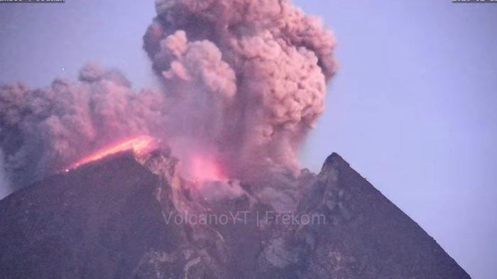 Gunung Merapi Luncurkan Awan Panas Sejauh 1.800 Meter, Dalam 6 Jam Terjadi 30 Kali Guguran Lava