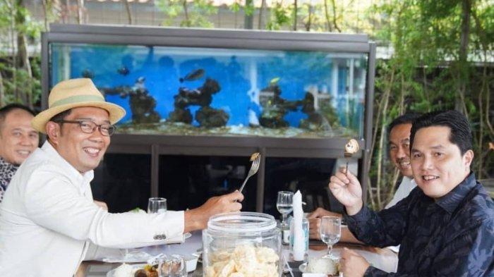 Erick Thohir dan Ridwan Kamil Ditantang Makan Jengkol dan Petai di Sela-sela Obrolan Pembangunan