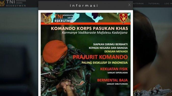 Lulusan SMP dan SMA Ini Kesempatanmu Jadi Tentara, Rekrutmen Tamtama TNI AU 2021 Dibuka, Ayo Daftar!