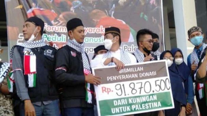 Hingga Asar, Donasi Aksi Peduli Kemanusiaan untuk Palestina di Kuningan Terkumpul Hampir 100 Juta