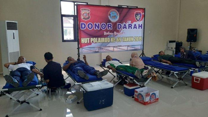 Menjelang HUT Ke-69 Korps Polairud, Ditpolairud Polda Jabar Gelar Donor Darah