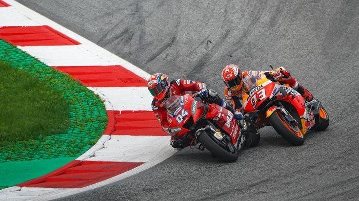 Hampir Tabrakan di Kualifikasi MotoGP San Marino 2019, Marc Marquez Salahkan Valentino Rossi