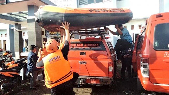 Dua Perahu Karet Diterjunkan, BPBD Bareng Relawan Lakukan Pencarian Korban Hanyut di Cisanggarung