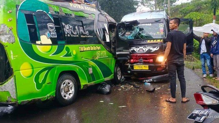 Elf terjadi di Kebun Teh Cisandaan, Jalan Raya Sumadra Kecamatan Pamulihan Kabupaten Garut, Minggu (21/02/2021).
