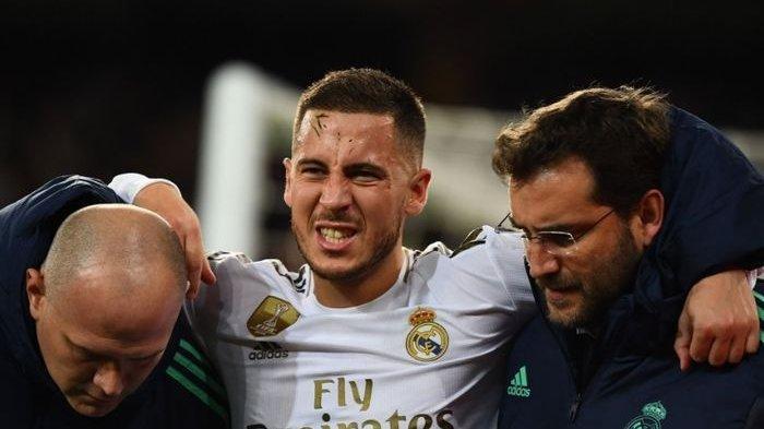 Eden Hazard Kesakitan Karena Patah Tulang Saat Lawan PSG, Winger Real Madrid Bakal Absen Lama