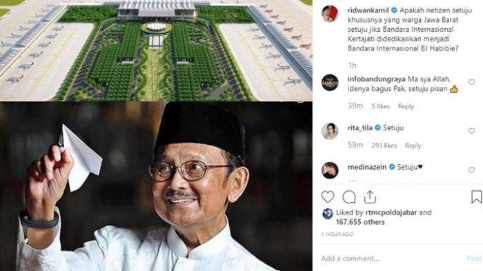 Ridwan Kamil Minta Pendapat Warganet Soal Nama Bandara Internasional BJ Habibie, Kalian Setuju?