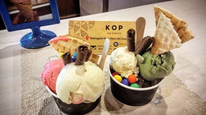 Sensasi Manis & Segarnya Varian Es Krim Gelato Harga Murah Meriah di Kafe Kop Ice Cream