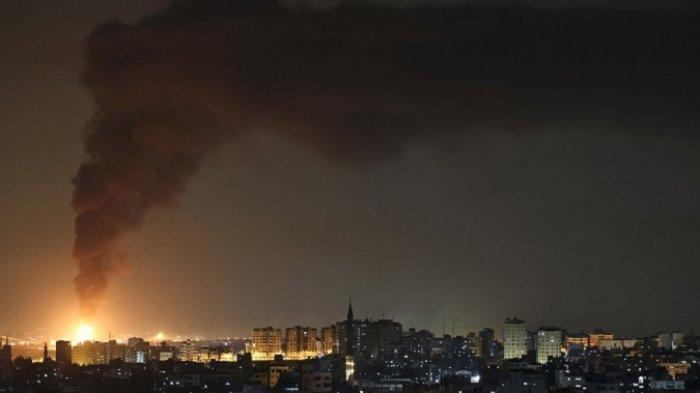 Jalur Gaza Memanas, Balas Roket Hamas, Gempuran Jet Tempur Israel Tewaskan  26 Warga Palestina