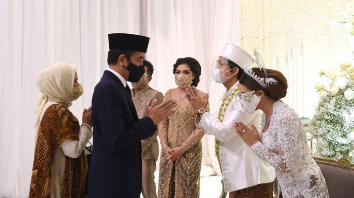 kedatang Presiden Jokowi Widodo bersama ibu Iriana ke pernikahan Atta - Aurel