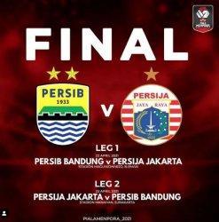Persib Bandung vs Persija Jakarta di Final Piala Menpora 2021.
