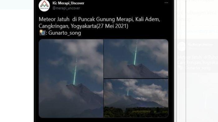 Misteri Cahaya yang Ramai Diduga sebagai Meteor Jatuh di Puncak Gunung Merapi, Ini Penjelasan BPPTKG