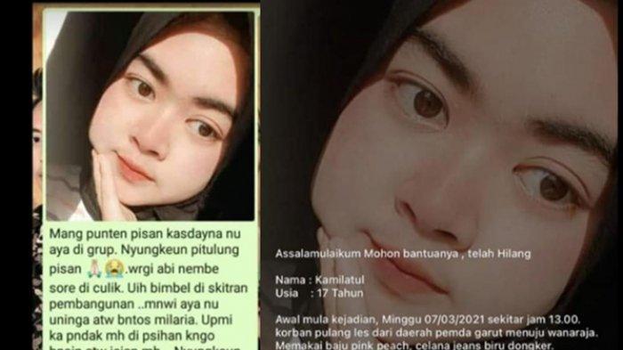 Tadinya Dituduh Ngeprank, Kamilia Asal Garut Memang Belum Pulang ke Rumah, Keluarga Lapor Polisi