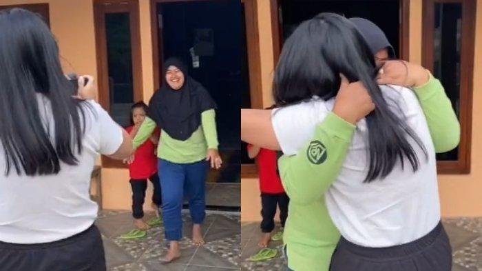 Viral Seorang Gadis Bertemu Mantan ART Setelah 14 Tahun Tak Jumpa, Bikin Terharu Keduanya Menangis