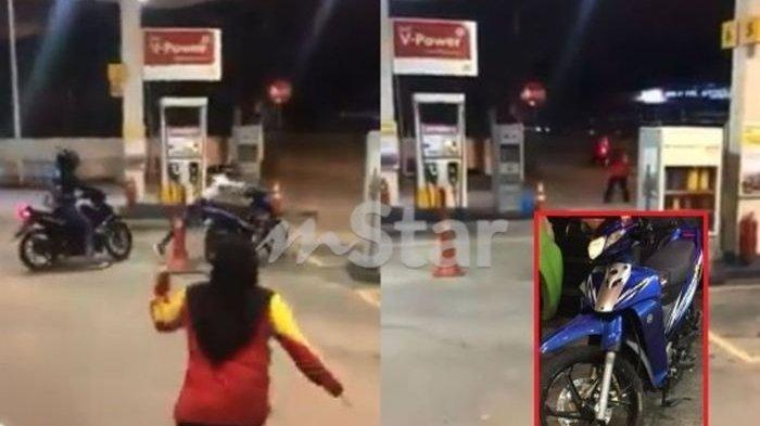 Gadis Berhijab Kejar Pencuri Motornya, Eh Teman Laki-lakinya Malah Asyik Merekam Aksi Si Gadis