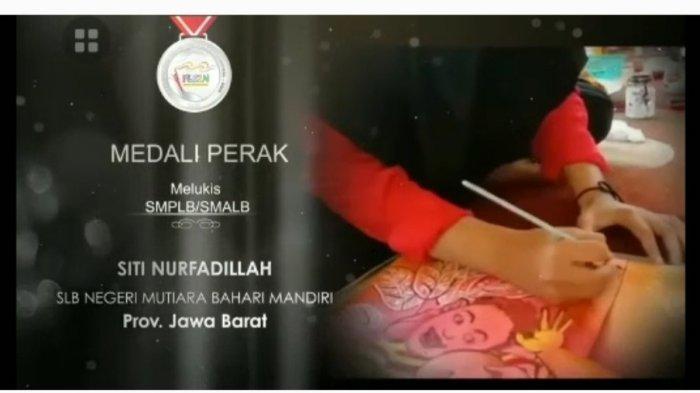 Kisah Gadis Tunarungu Asal Sukabumi Siti Nurfadilah Raih Medali Perak dalam Lomba Lukis FLS2N