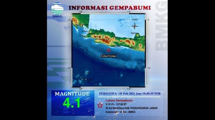 Gempa 4,1 Magnitudo Guncang Pangandaran, Begini yang Dirasakan Sejumlah Warga Pangandaran