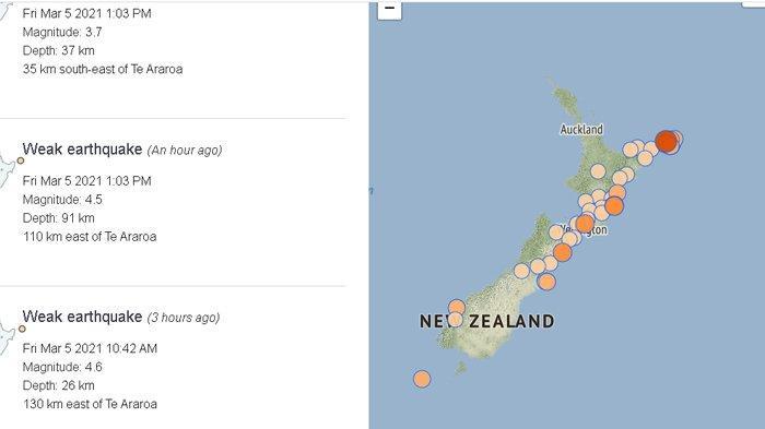 Ribuan Warga Panik Saat Gempa Besar 8,1 SR Mengguncang Selandia Baru, Sirene Tsunami Berbunyi