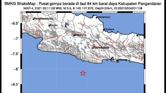 Gempa Bumi Baru Saja Guncang Pangandaran, BMKG: Getarannya Hingga Tasikmalaya dan Garut