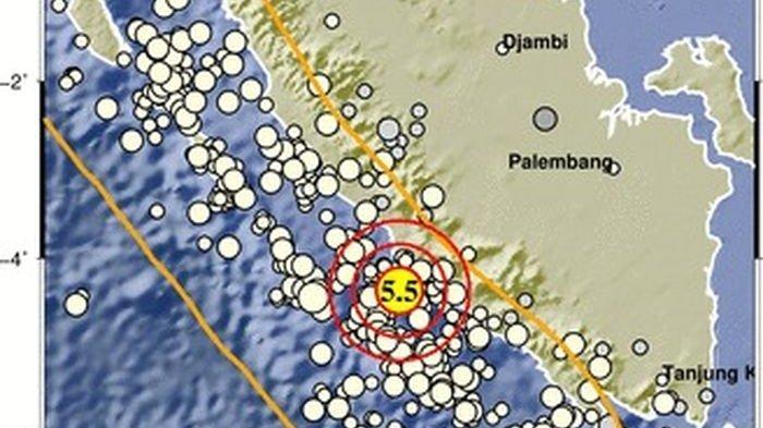 Baru Saja Terjadi Gempa Bumi Magnitudo 5,5 Guncang Bengkulu, Tidak Berpotensi Tsunami