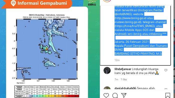 Baru Terjadi Gempa Bumi Magnitudo 5,2 Guncang Halmahera Selatan, Belum Ada Laporan Kerusakan