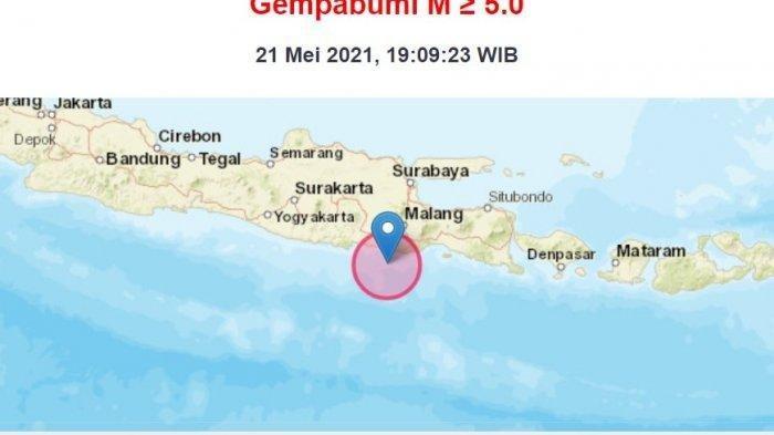 Gempa Bumi Magnitudo 6,2 Mengguncang Blitar Pukul 19.09, Getaran Terasa Hingga ke Solo-Yogya