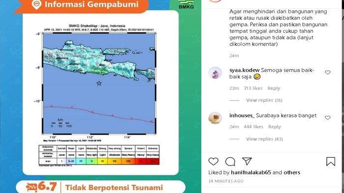 Penjelasan Lengkap BMKG Soal Gempa di Malang dan Dampaknya, Berpotensi Ada Gempa Susulan