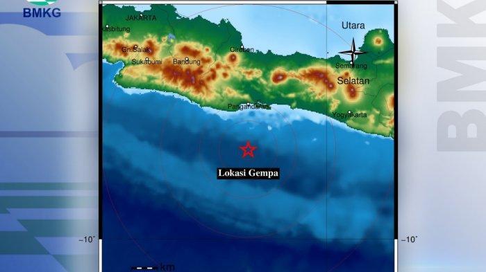 Gempa 4,7 Magnitudo Guncang Pangandaran, Pusat Gempa di Laut Selatan Getaran Terasa Hingga ke Garut