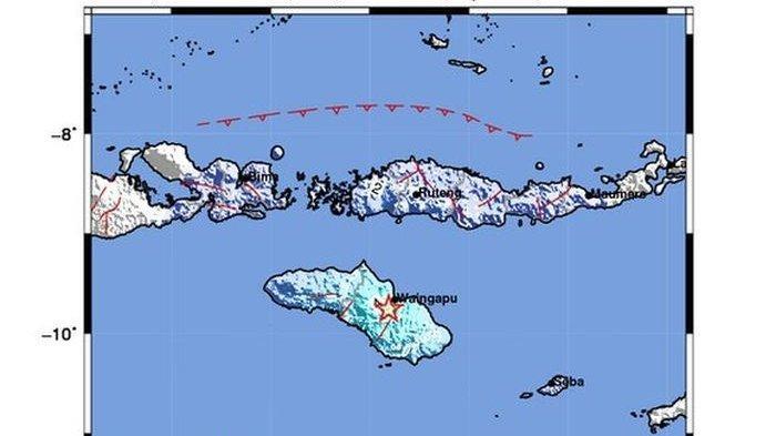 Baru Saja Gempa 5,0 SR Mengguncang Wilayah Waingapu, Getaran Gempa Terasa Hingga ke Labuhan Bajo
