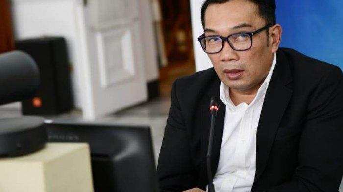 Gubernur Jabar Ridwan Kamil saat memberikan keterangan pers via konferensi video dari Gedung Pakuan, Kota Bandung, Rabu (30/6/2021).
