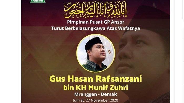 Kabar Duka dari Demak, Tokoh Agama Gus Hasan Rafsanzani Meninggal Dunia