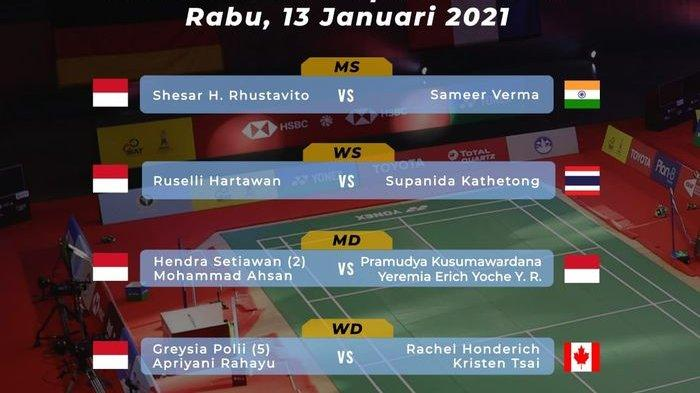 Link Live Streaming Thailand Open 2021 Rabu 13 Januari, Tujuh Wakil Indonesia Berlaga