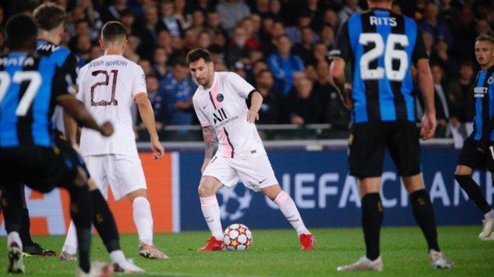 Liga Champions: Lionel Messi Apes, Gagal Cetak Gol Malah dapat Kartu Kuning, PSG Ditahan Imbang