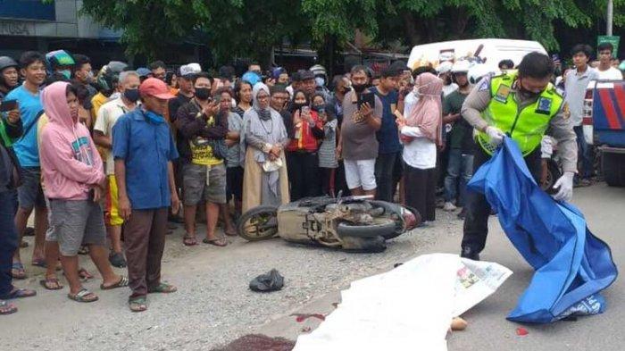 Gagal Menyalip dari Kiri, Ibu Rumah Tangga Tergilas Truk, Dua Penumpang Motornya Luka-luka