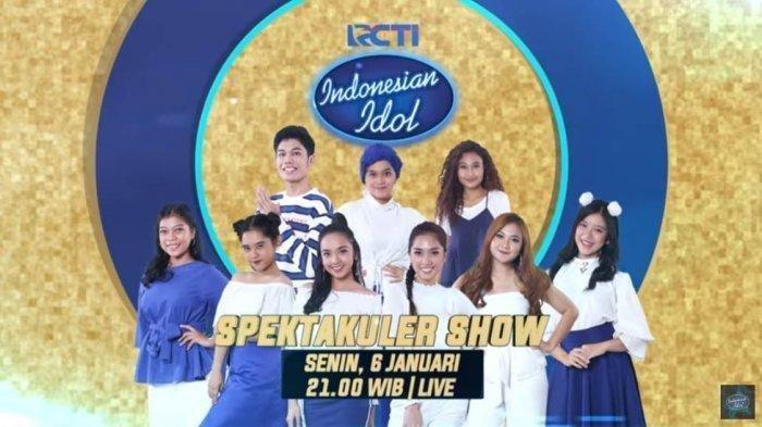 Hasil Indonesian Idol Spektakuler Show Top 9, Wanita Asal Banjarmasin Ini Harus Hentikan Mimpinya
