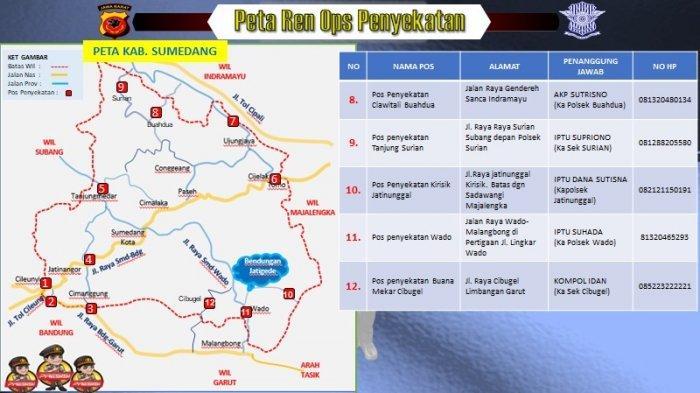 Daftar pos penyekatan pemudik di Kabupaten Sumedang