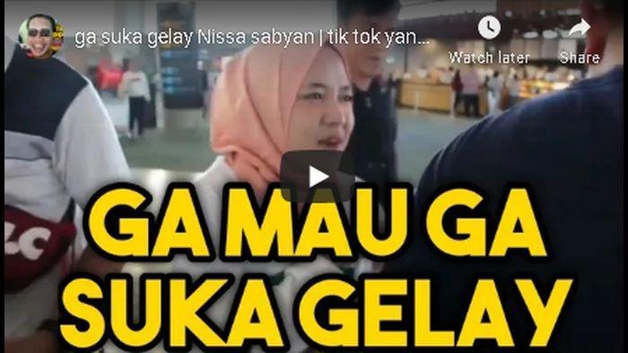 Ini Video Nissa Sabyan saat Ucapkan Kata Gelay, Langsung Viral dan Trending di Medsos, Suaranya Duh