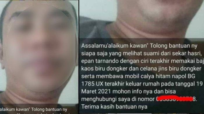 Istri Lapor Polisi Suami Hilang Berhari-hari Usai Pamit Angkut Penumpang, Ternyata Temui Selingkuhan