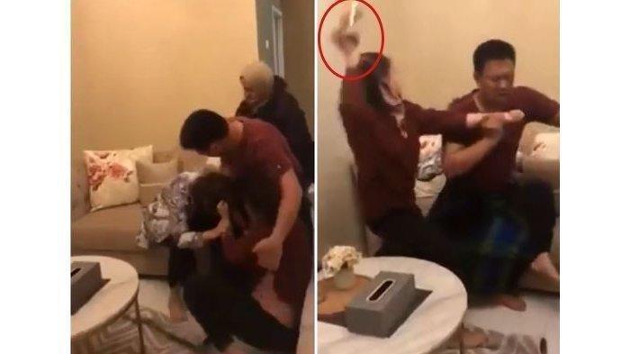 Suami Datangi Salon Milik Istri untuk Bercinta Dengan Karyawan Cewek, Nyonya Datang, Pelakor Disiksa