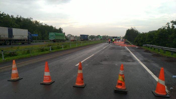 Pengguna Tol Diimbau Hati-hati, Perawatan Jalan Ambles di Tol Cipali Km 122 Memakan Waktu 2 Minggu