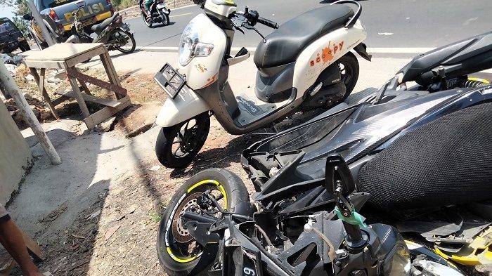 Dua Motor Adu Banteng di Kawasan Kuningan, Seorang Kejang-kejang Langsung Dibawa ke Rumah Sakit