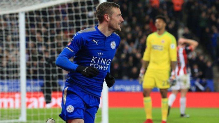 HASIL Liga Inggris - Arsenal Bubuk di Kandang Sendiri, Jamie Vardy Cetak Gol untuk Leicester City