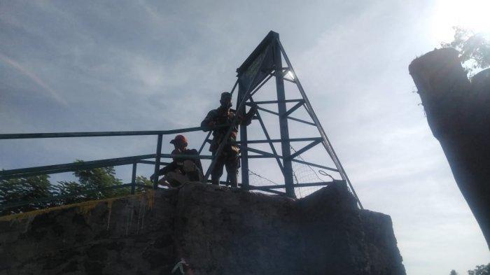 Jembatan Gantung Siliwangi/ III Hum 54 Terputus, Begini Respons Dandim Sumedang