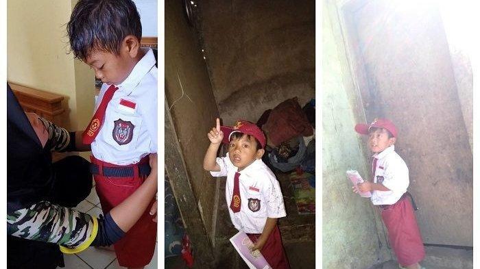 Kisah Jodi Bocah Lusuh Yang Bersekolah Dengan Pakaian Kotor, Bupati Kuningan Siap Relokasi Rumahnya
