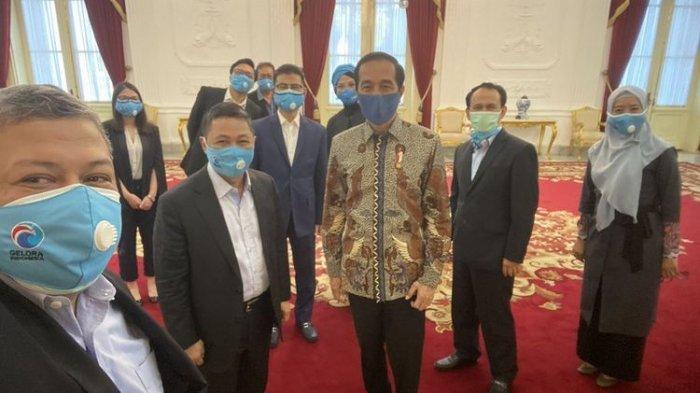 Terima Pengurus Partai Gelora di Istana Kepresidenan, Jokowi Bilang Kangen Suara Fahri Hamzah
