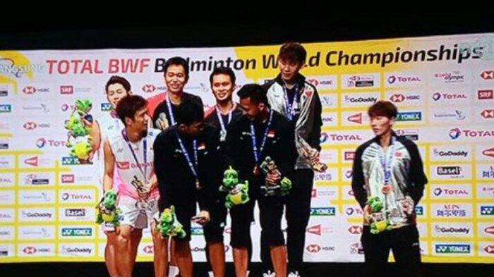 VIDEO - Detik-detik Liu Junhui 'Gak Diajakin'  Foto Bareng di Podium Kejuaraan Dunia, Ini Kata Liu