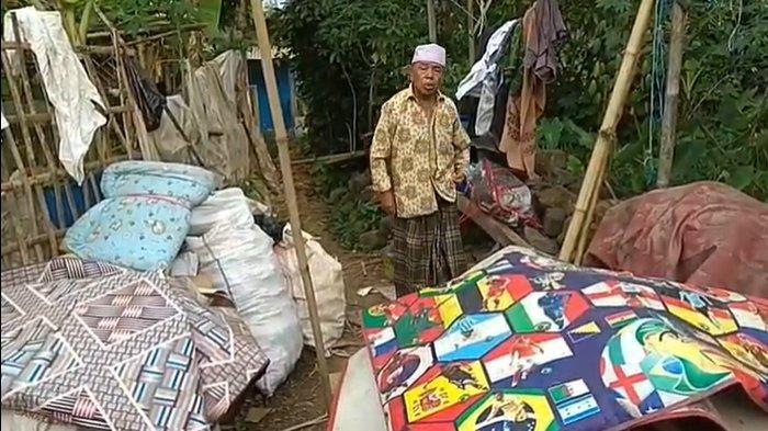 Kakek di Cianjur Ini Hidup Sebatang Kara, Tinggal di Rumah Lapuk Lalu Ambruk, Untung Selamat