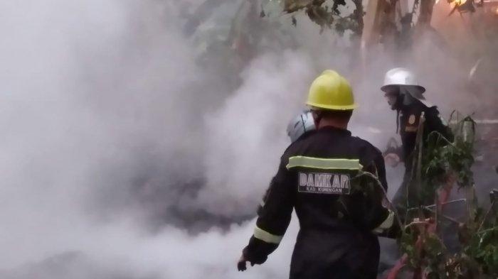 Peternakan Ayam di Cikembar Sukabumi Terbakar, Ayam-ayam pun Hangus Terpanggang Si Jago Merah