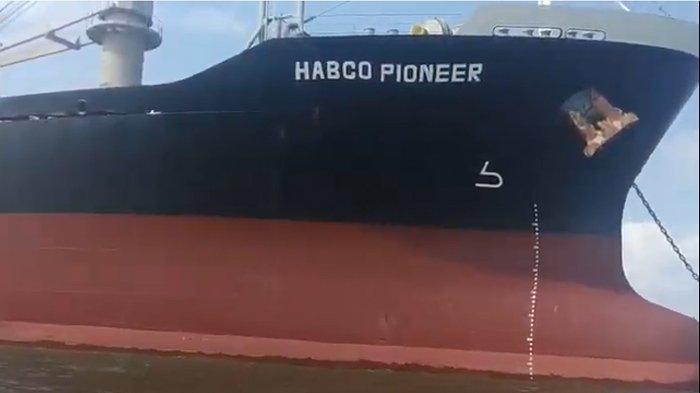 Ini Penampakan MV Habco Pioneer yang Bertabrakan dengan Kapal Nelayan MV Barokah Jaya, 17 ABK Hilang
