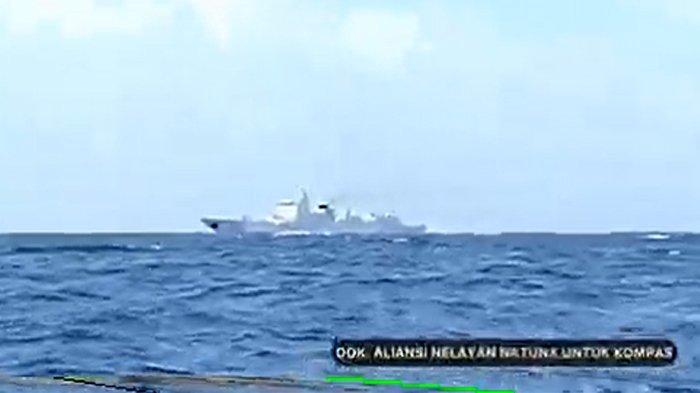 VIDEO Kapal Perang China Dilengkapi Rudal Berani Masuk ke Laut Natuna Utara, TNI AL Tambah Patroli