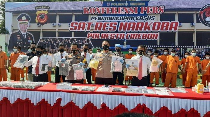 Satnarkoba Polresta Cirebon Berhasil Ungkap Puluhan Kasus Narkoba, Puluhan Tersangka Dibekuk